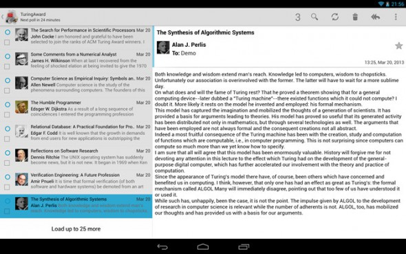 Android E-Mail holo k-9 mail Update