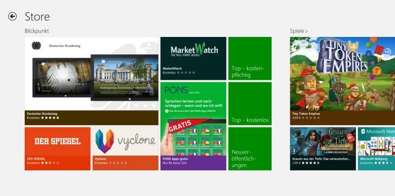 aktion pons Windows Windows 8 Windows RT Windows Store wörterbuch