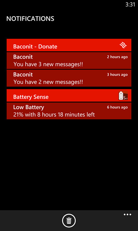 benachrichtigungen Leak microsoft Nokia Drive Notification Center screenshots Windows Phone