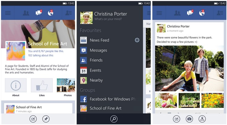 app facebook microsoft Windows Phone