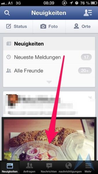 app Apple beta facebook iOS Leak menü social