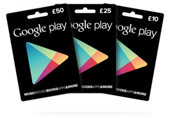 Android Geschenkkarten Google google play Google Play Store Prepaid