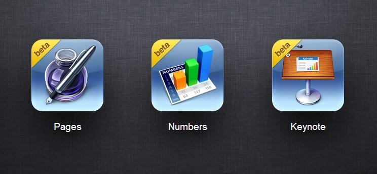 Apple icloud iwork