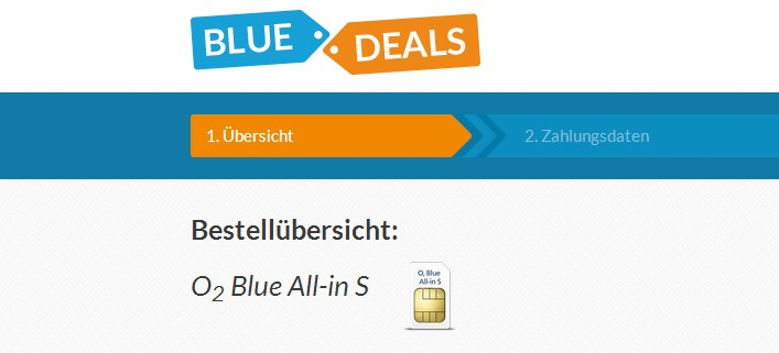 o2 Blue All-In S mit 300 MB Datenvolumen bei Blue-Deals