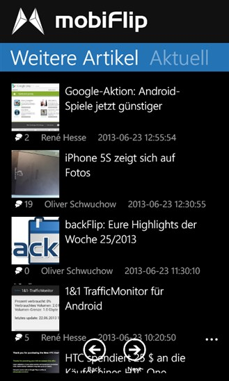 app mobiflip Windows Phone