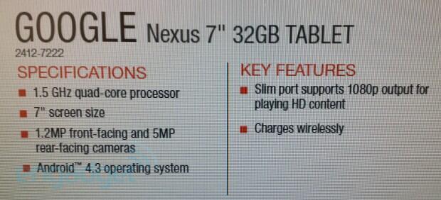 Android event Google Leak nexus nexus 7 tablet