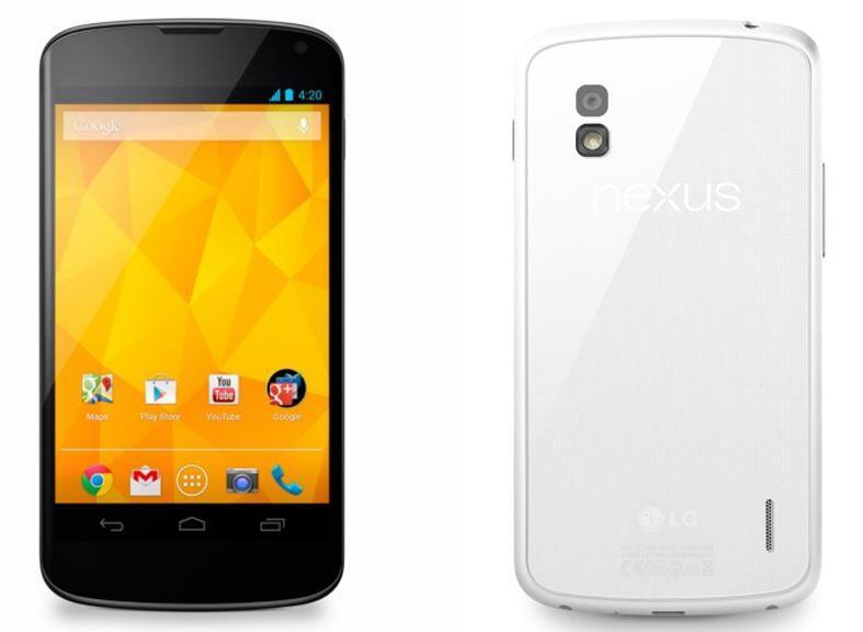 Android Google nexus weiß