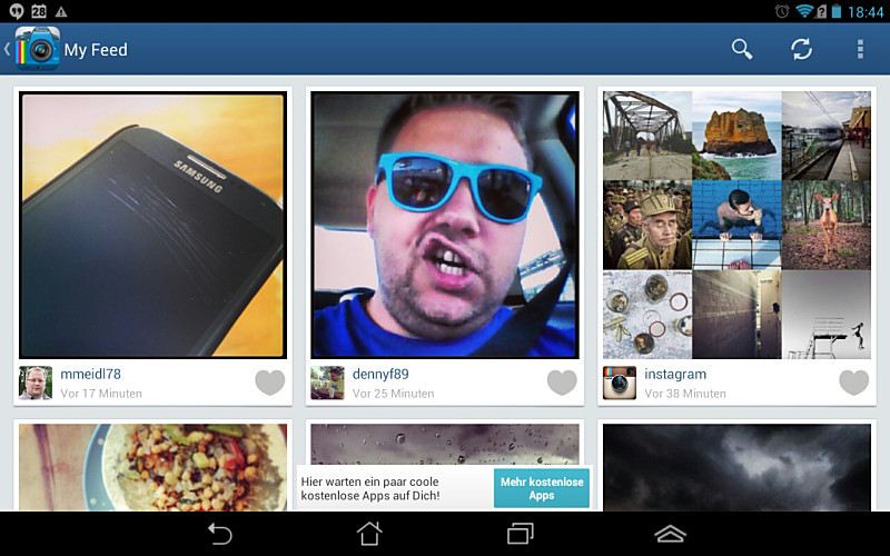 Android app Fotos instagram social Tablets