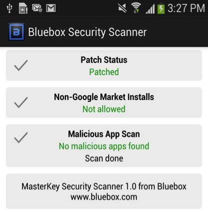 Android app bluebox fix security Sicherheit test