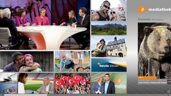 ZDF-Mediathek jetzt auch als Windows-8-App