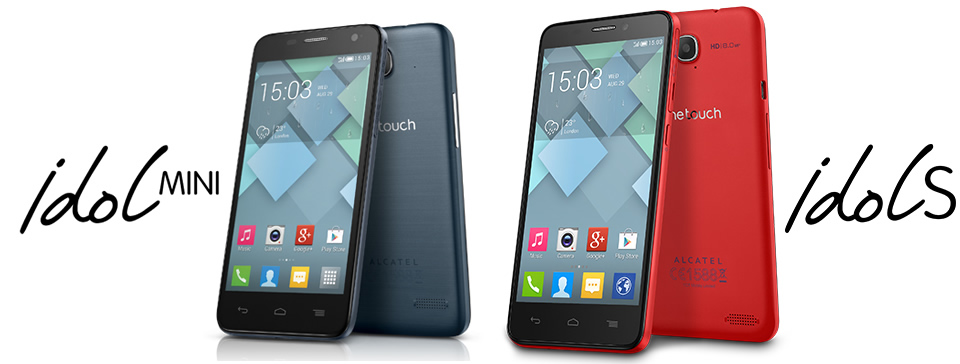 Alcatel Android one touch idol mini one touch idol s