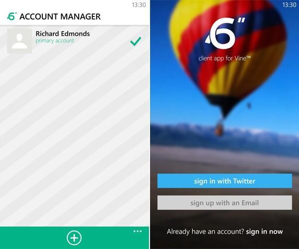 app multi-user Update vine Windows Phone