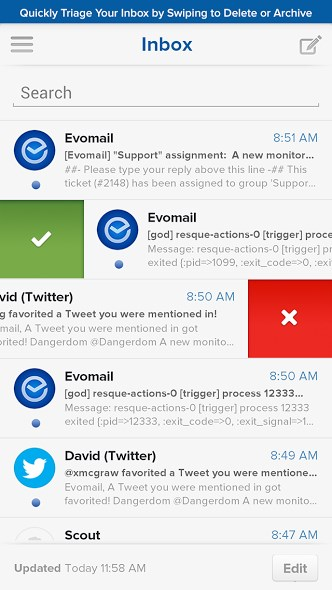 Android Evomail
