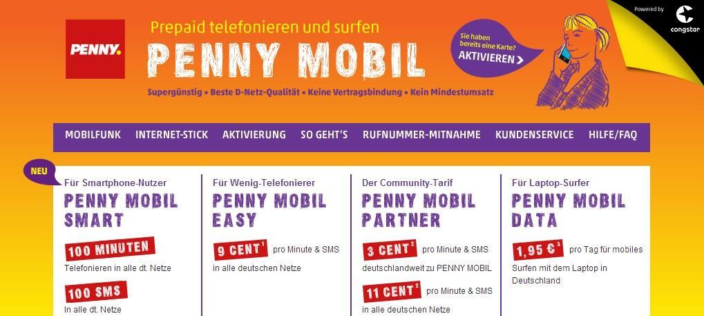 Ein Hoch auf Prepaid-Tarife: Penny Mobil