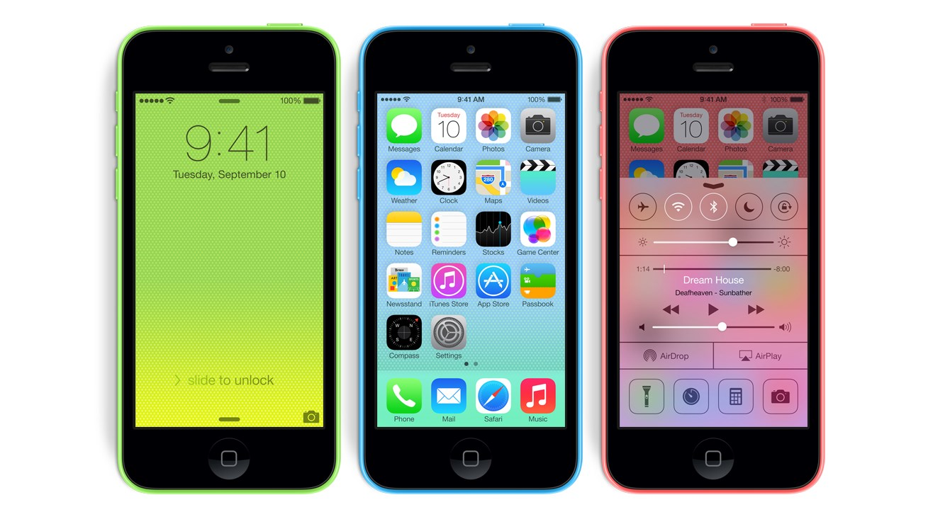 5c Apple color iOS iphone