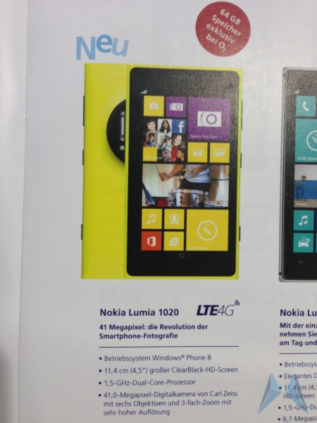 1020 Lumia Nokia Windows Phone