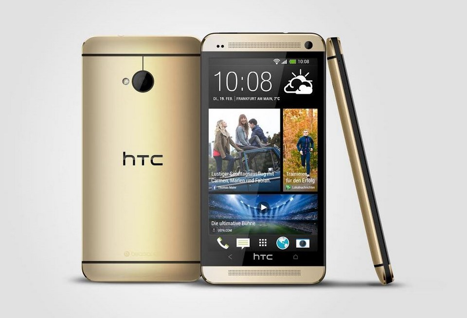 Android Gold HTC one