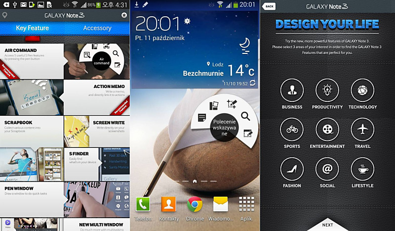 Android app Galaxy Note 3 Samsung