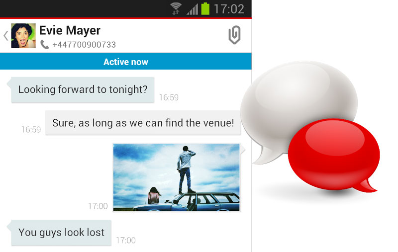Android app Galerie Messenger Vodafone