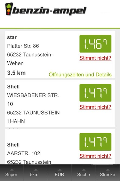 Android app dienst iOS Tanken