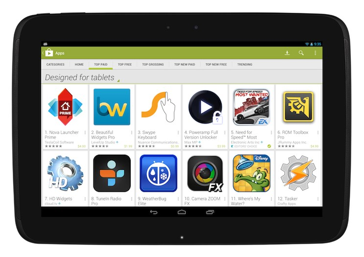 Android app Apps Google google play play tablet Update