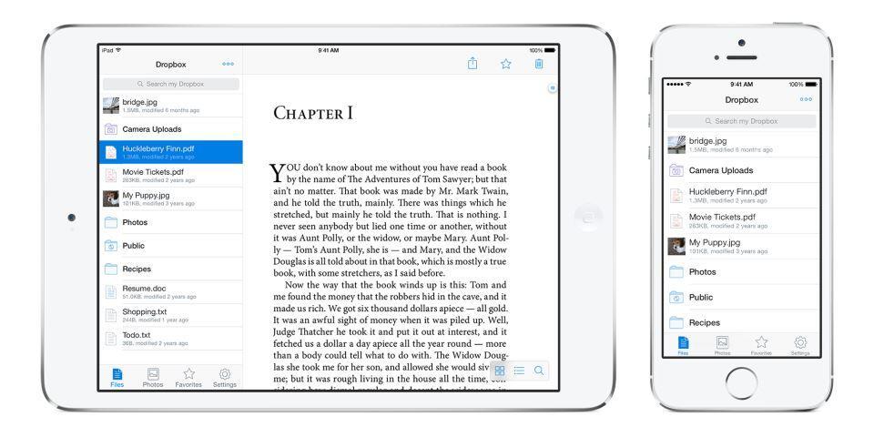 Apple cloud dropbox iOS iPad iphone Update