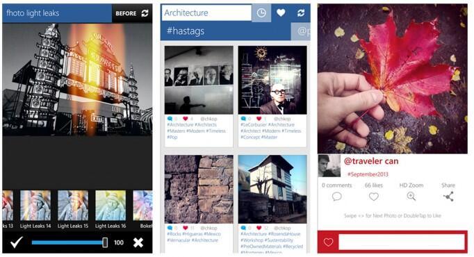 app Fotos social Windows Phone