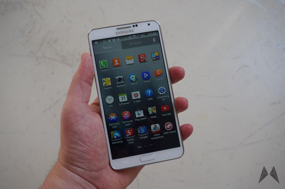 Android deutschland kitkat note Samsung Update
