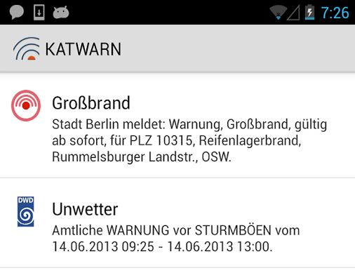 Android app iOS warnung