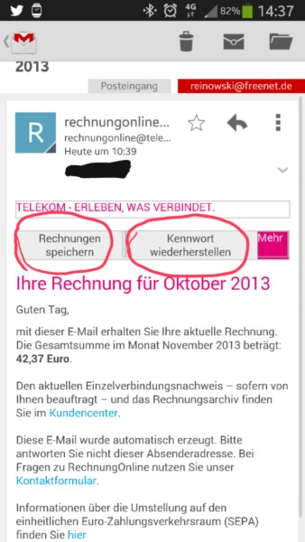 email mail spam Telekom