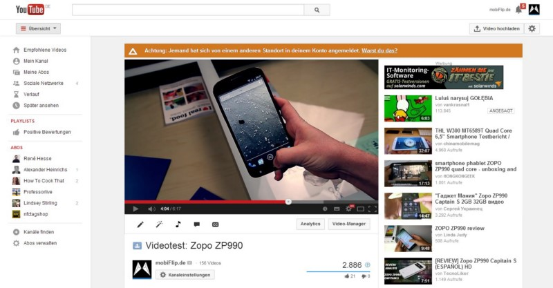 design Google layout YouTube
