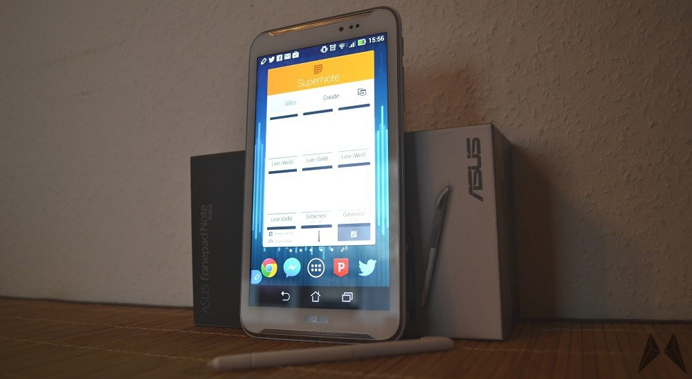 Android Asus Digitizer Fonepad Note 6 Galerie Phablet review Stylus Testbericht