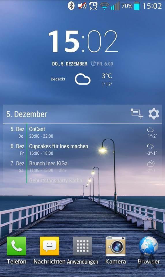 agenda Android freeware widget