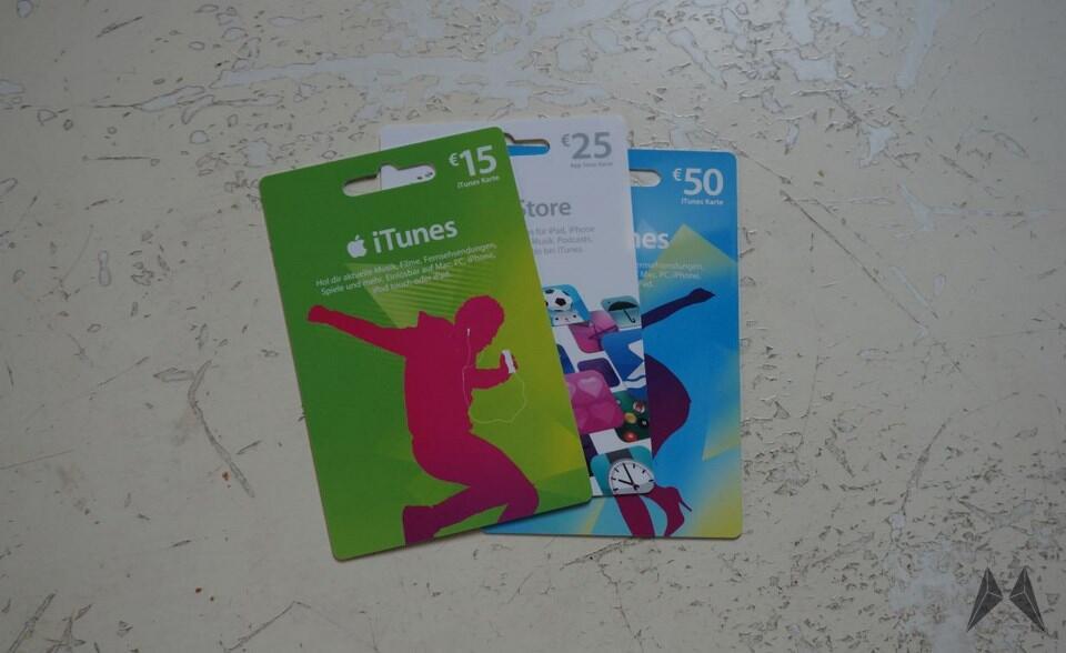 Apple iOS itunes karte rabatt