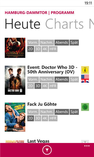 app cinemaxx Kino Kinofilme Windows Phone