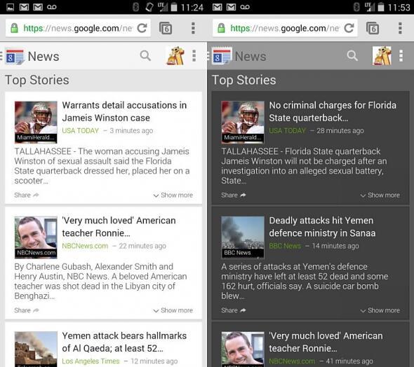 Google Google News mobil Nachrichten News redesign Update