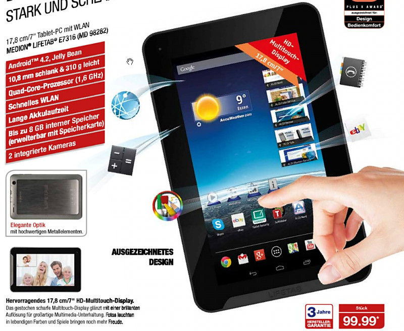 aldi Android medion Notebook tablet Touch Windows Windows 8.1