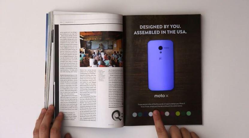 Android moto Motorola werbung