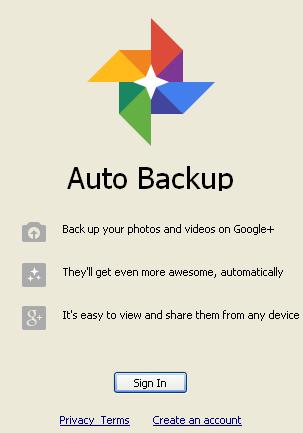 backup mit google