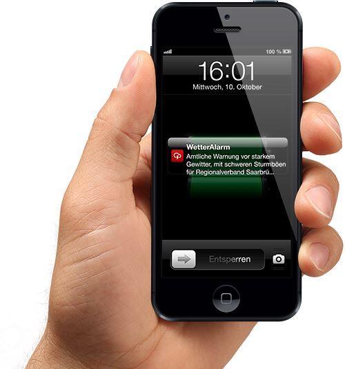 app iOS Pebble push screen Software Wetter