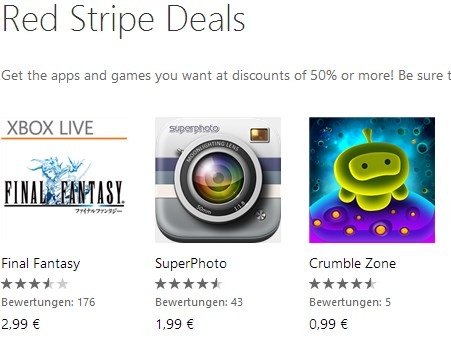 app deal games red stripe Windows Phone wp