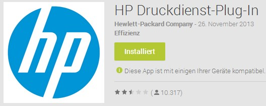 Android app Google HP System Update