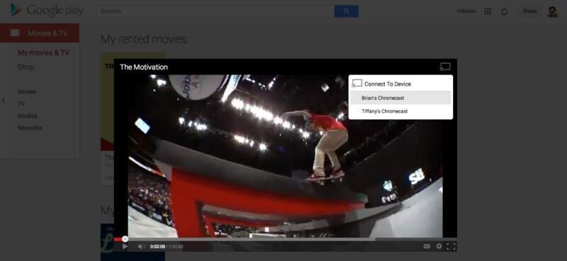chrome chromecast Google hdmi music play TV