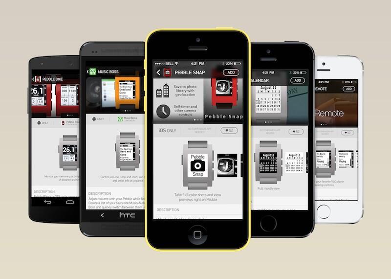 app store iOS Pebble smartwatch Uhr