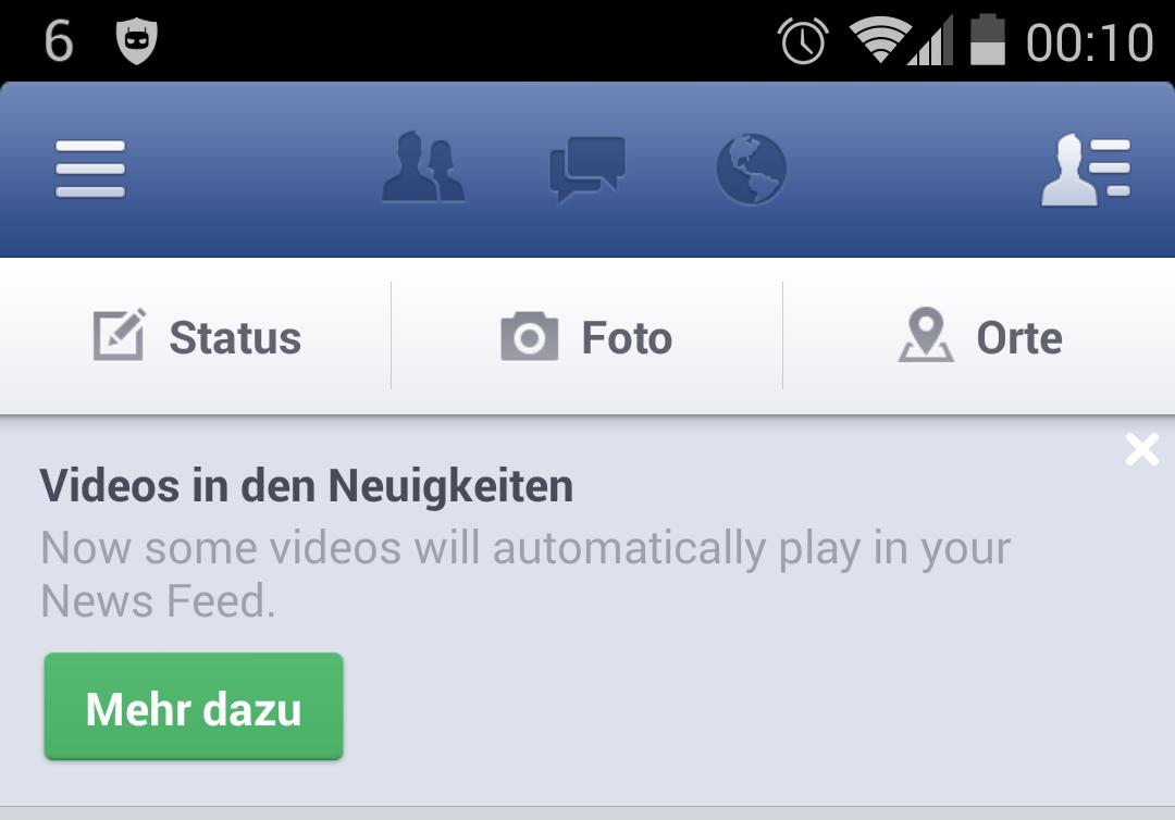 Android app facebook social videos