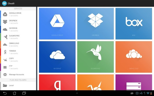 Android cloud design dropbox Update