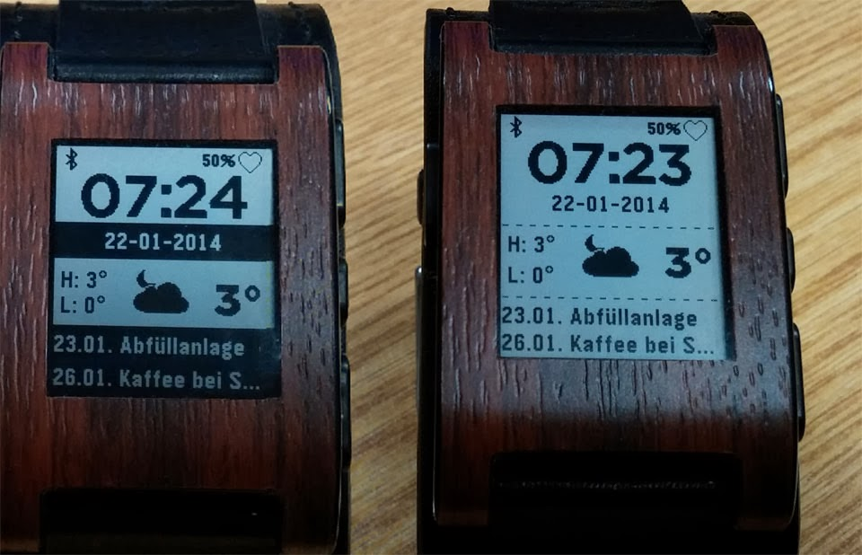 Android beta Canvas Pebble Watchfaces