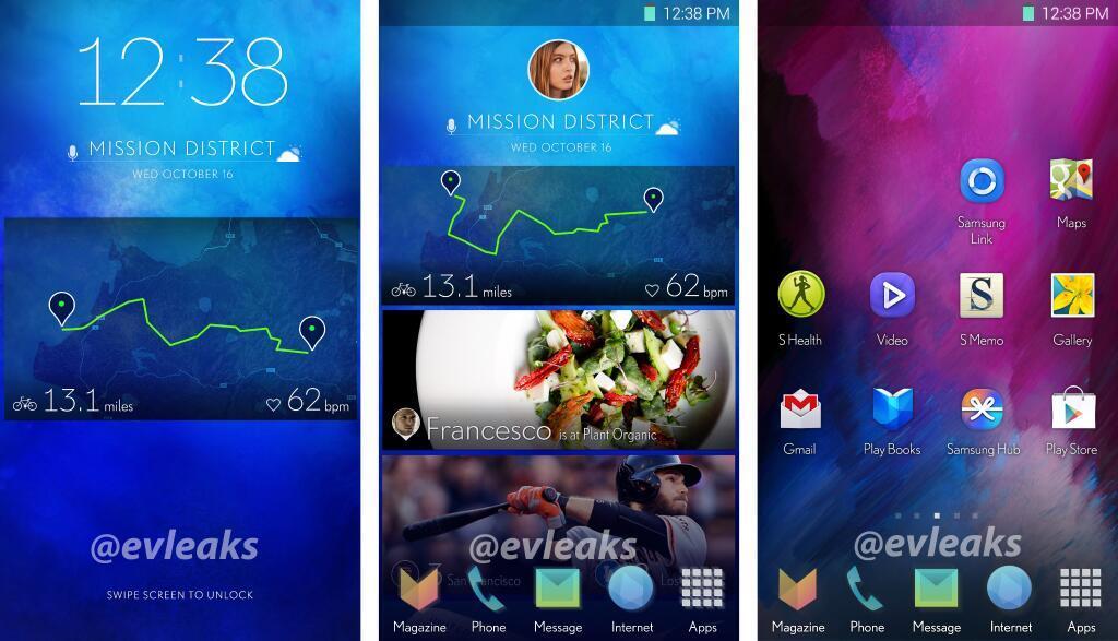 Android galaxy Leak Samsung UI