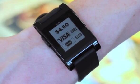 bezahlen Pebble smartwatch