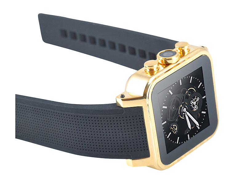 Android Gold Pearl Simvalley smartwatch Uhr